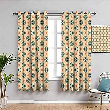 curtains for bedroom Yellow abstract flowers