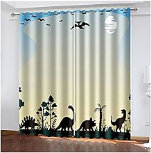 Curtains For Living Room 2 Panels Set, 3D Curtains