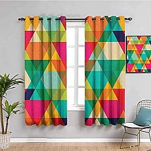 curtains for living room Color grid geometric
