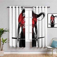 curtains for living room Figure samurai sword