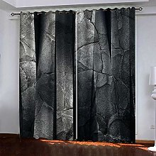 curtains for living room Gray rock wall 63 x 54