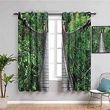 curtains for living room Green plants trees wooden