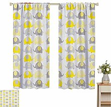 curtains for living room Nursery,Yellow and Grey