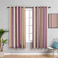 curtains for living room Purple love stripes 83.8