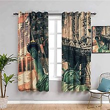 curtains for living room Vintage statue of liberty