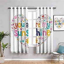 curtains for living room White love letters sun