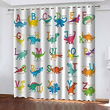 curtains shower curtain Cartoon dinosaur Total