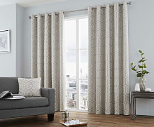 Curtina Camberwell Silver Eyelet Curtains and