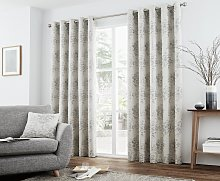 Curtina Elmwood Lined Curtains - 168x183cm - Silver