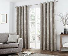 Curtina Elmwood Lined Curtains - 229x183cm - Stone