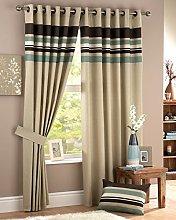 Curtina Harvard Duckegg Eyelet Lined Curtain 90x54