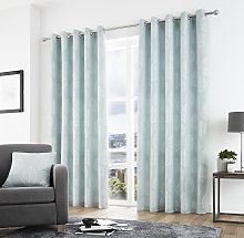 Curtina Helsinki Eyelet Duck Egg Curtains and
