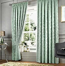 Curtina Two Curtain Panels, 100% Polyester, Duck