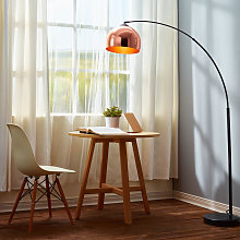 Curved Arquer Floor Lamp Copper Shade by Modern