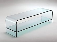 Curved glass tv stand Tango