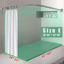 Curved Shower Curtain Rod Stainless Steel