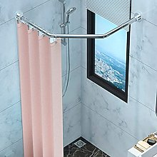 Curved Shower Rod Diamond Shaped Curtain Rail,