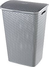 Curver 55 Litre Laundry Hamper - Grey