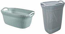 Curver Knit Laundry Storage Basket and Storage
