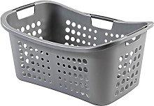 CURVER VICTOR Laundry Basket 50L Silver Plastic