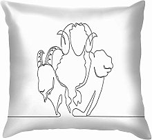 Cushion cover One Single Line Drawing Camel Goat