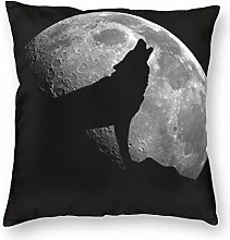 Cushion Cover Wolf Howling At The Moon Throw