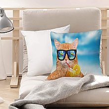 Cushion Covers (45 x 45 cm) - Polyester,Funny,Cat