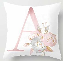 Cushion Covers Letter Pillow English Alphabet