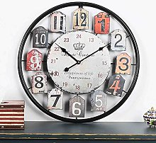Cushion Wall Clock Vintage Rustic Country Round