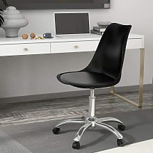 Cushioned padded seat Computer PC Desk black