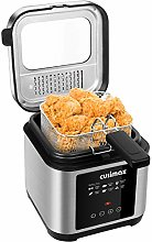 CUSIMAX 2.5L Deep Fat Fryer, 1200W Touchscreen