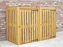 Custis Wooden Double Bin Store Rebrilliant