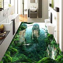 Custom 3D Mural Floor Wallpaper Cliff Scenery PVC