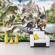 Custom 3D Mural Wallpaper Dinosaur World Bedroom