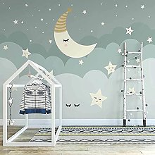 Custom 3D Photo Wallpaper Cartoon Stars Moon