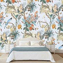 Custom 3D Photo Wallpaper European Flower Bird