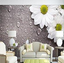 Custom 3D Photo Wallpaper for Walls White