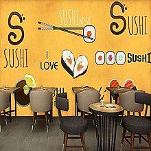 Custom 3D Photo Wallpaper Hand Cuisine Mural Sushi