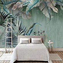 Custom 3D Photo Wallpaper Plant Green Leaf Mural
