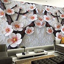 Custom 3D Stereoscopic Relief Plum Flower Wall