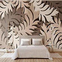 Custom 3D Wall Mural Wallpaper Creative 3D Leaves