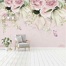 Custom 3D Wall Murals Wallpaper Flower Butterfly