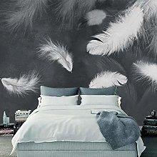 Custom 3D Wallpaper Modern White Feather TV