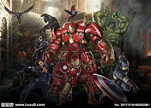 Custom 3D Wallpaper Mural 3D Avengers Internet