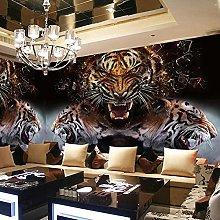 Custom 3D Wallpaper Mural with Tiger Photos Retro
