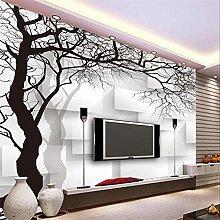 Custom 3D Wallpaper Wall Murals Hand Painted Black