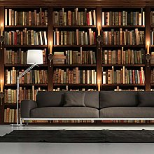 Custom 3D Wallpapers European Retro Bookcase Books