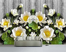 Custom 3D Wallpapers Green Relief Lotus Grain 3D