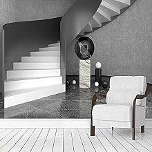 Custom Black White Gray Spiral Staircase Geometric