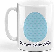 Custom Ceramic Coffee Mug 11 Ounces Dots Print Egg